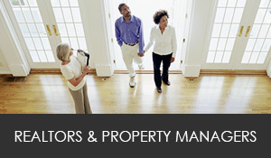 Services available to realtors and property managers.